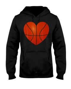 Basketball Heart Hooded Sweatshirt