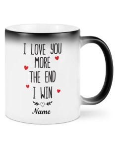 I Love You More I Win Personalized Mugs