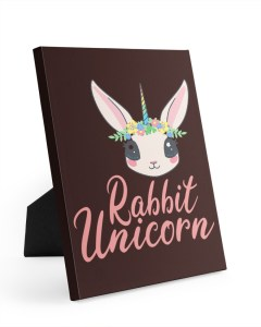 Rabbit Unicorn Wrapped Canvas