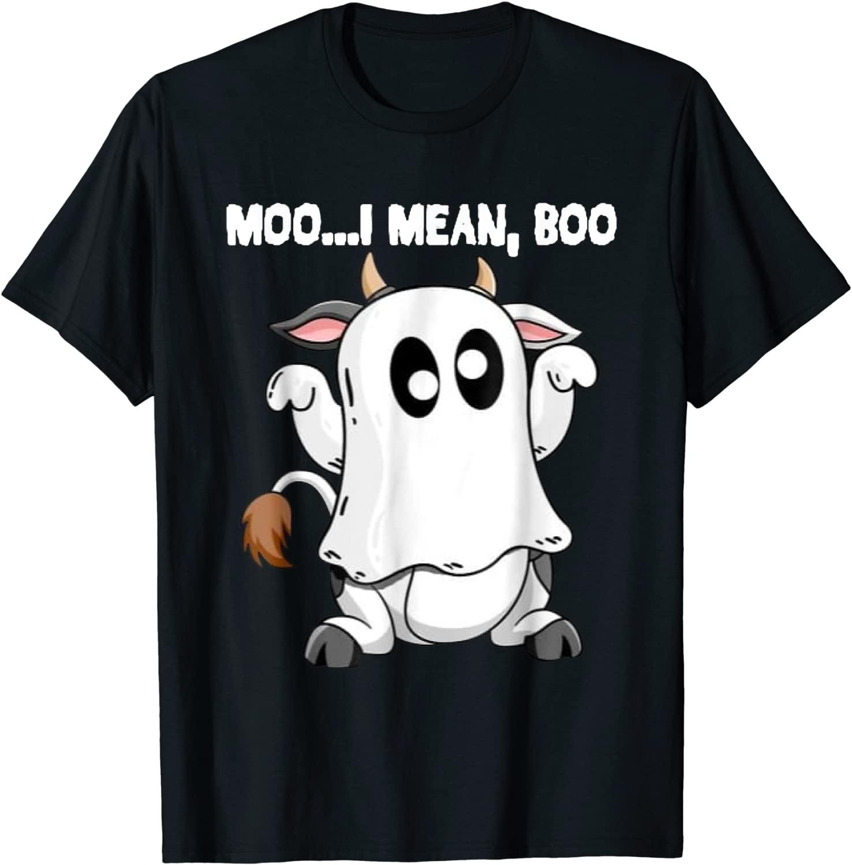 Trick or treat is a popular way to. Ghost Cow Moo I Mean Boo Pumpkin Moon Halloween 2021 Shirt - Teeducks