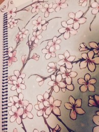 Flowers -serves as a divider that I put before the month of March to note change in Seasons (scrapbook paper)