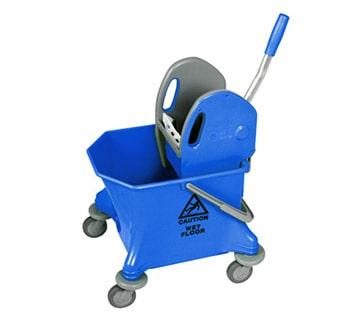 عربة دلو واحد أزرق