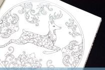 Krāsojamā grāmata pieaugušajiem Johanna's Christmas - briedis