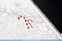 Krāsojamā grāmata pieaugušajiem Johanna's Christmas - saldumi
