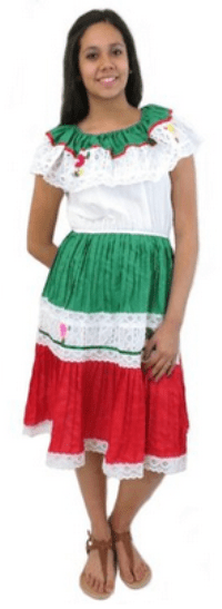 Mexican Dress Flor 3 Colors