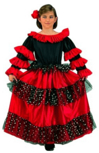 Spanish Dancer Beauty Kids Costume
