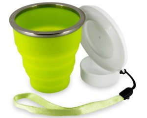 Not Just A Gadget Silicone Outdoor Collapsible Travel Drinking Mug