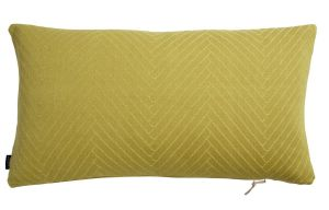 Fluffy Herringbone Pillow in Bamboo Yellow design by OYOY