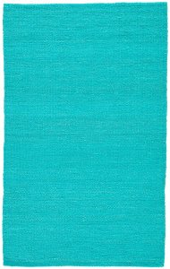 Hutton Natural Solid Turquoise Area Rug design by Jaipur