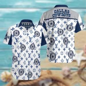 Dallas Cowboys Summer Short Sleeve Hawaiian Beach Shirt