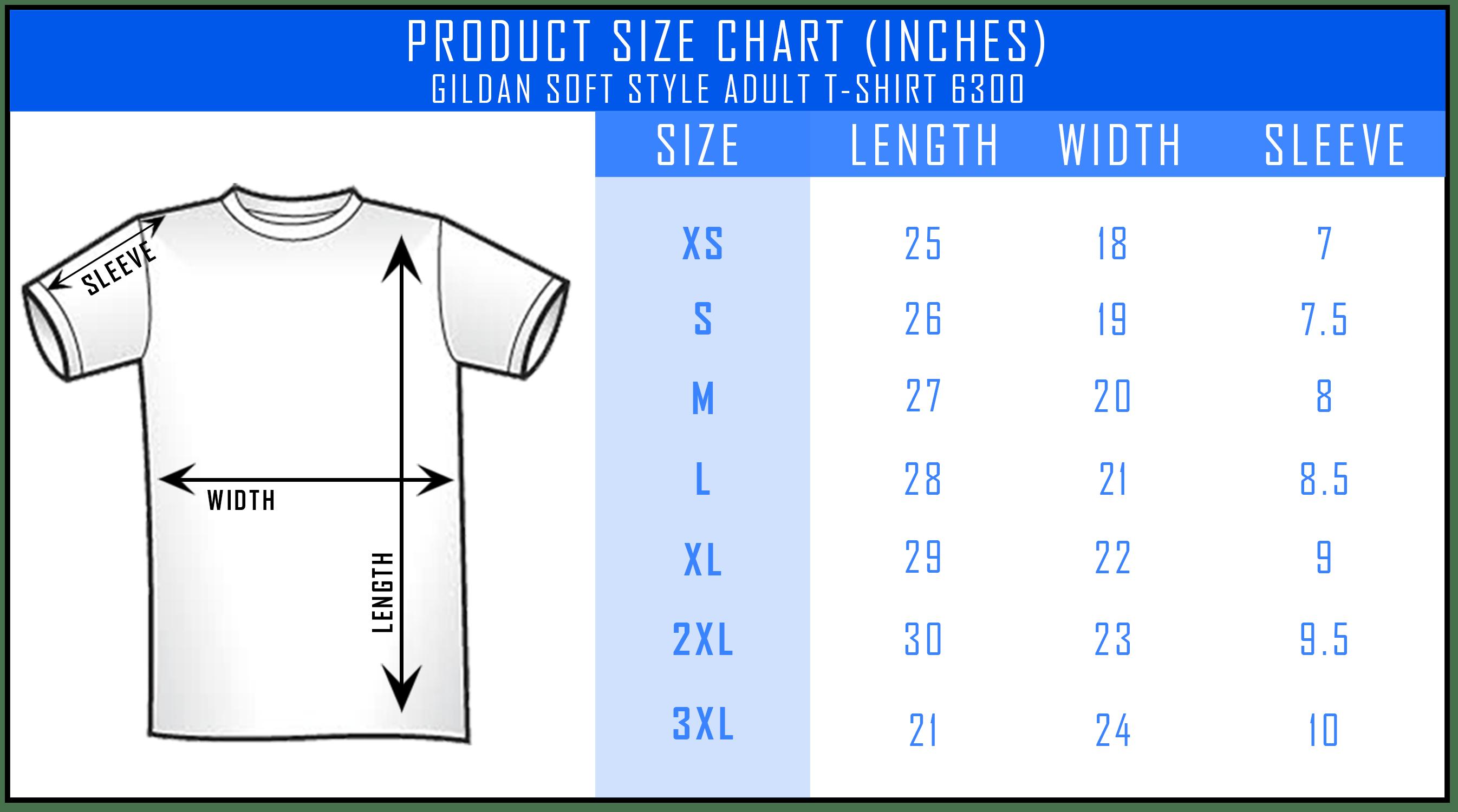 Gildan Softstyle T Shirt Size Chart Azərbaycan Dillər Universiteti