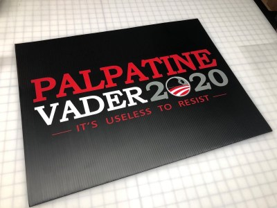 Palpatine-Vader election yard sign