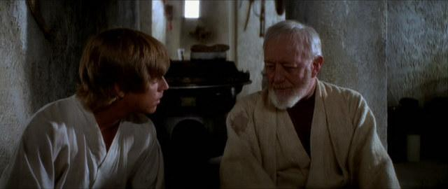 Image result for Obi-Wan and Luke talk