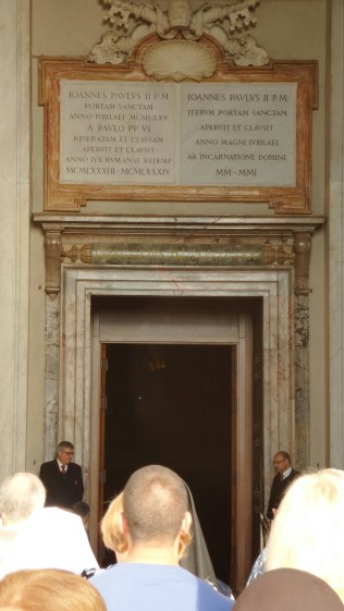 The holy door at St. Peter's Basilica in Vatican City State