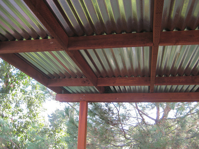 Deck With Tin Roof Deck Design And Ideas