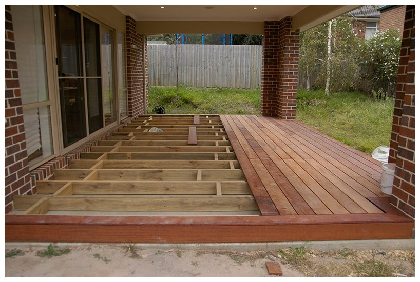 Wood deck over concrete patio | Deck design and Ideas on Deck Over Patio Ideas id=94839