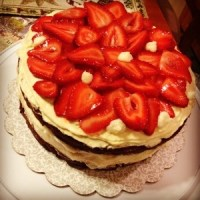 Strawberry Week: Devil's Food Strawberry (Tall)Cake