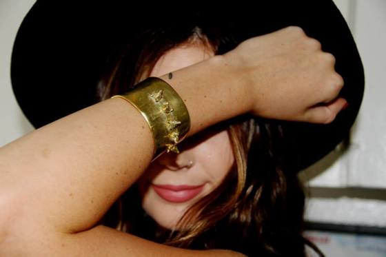 "Kendall wearing the ""Fox Head Cuff Yah"""