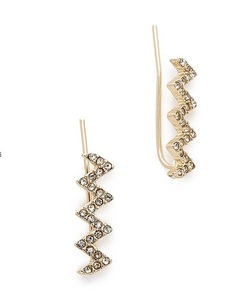 Jules Smith Pave Zig Zag Ear Climber