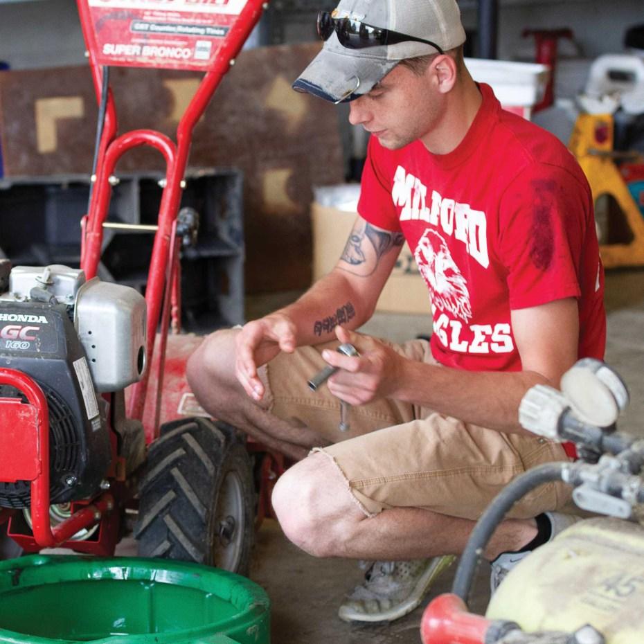 Equipment maintenance mower