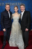 Bob Iger, Lily James, Alan Horn