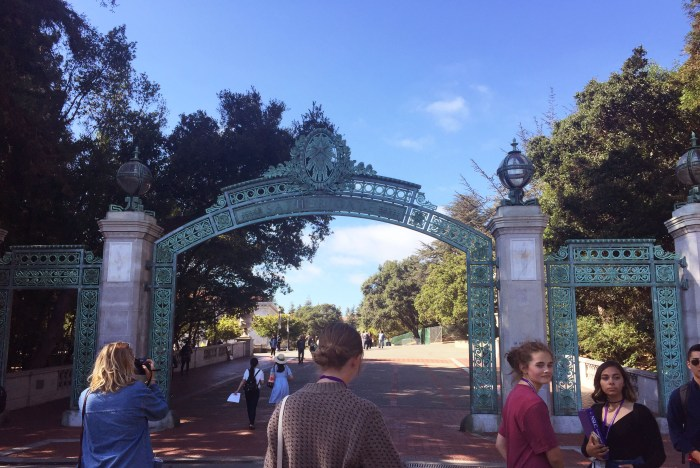 Sather Gate-the iconic gate at Cal-a historical landmark at the campus. Photo by Etta Liu