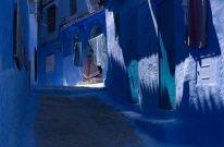 Този стар град в Мароко е покрит целия в синя боя
