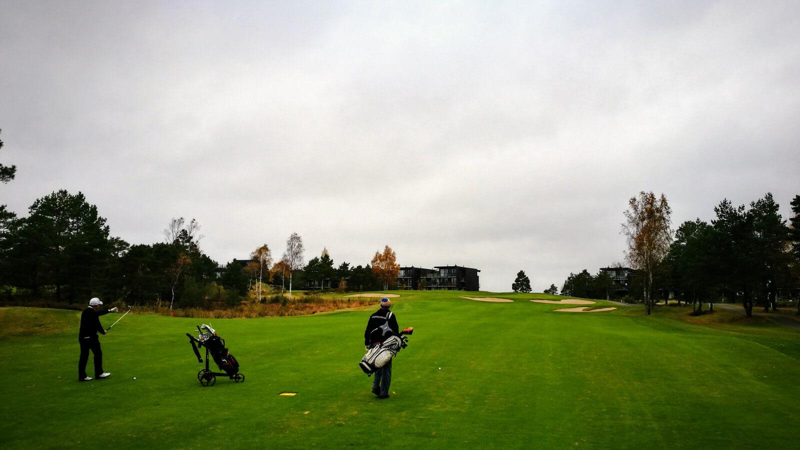 Hull 18, Kragerø Golfklubb
