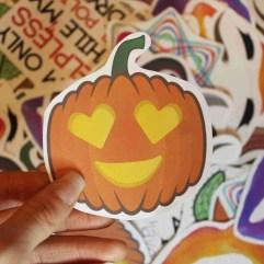 love heart pumpkin sticker 1