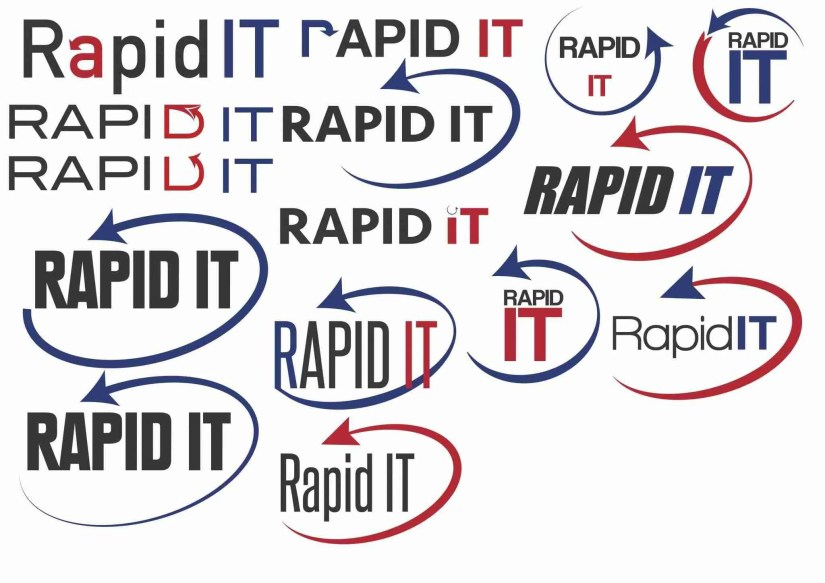 rapid it logo design 1
