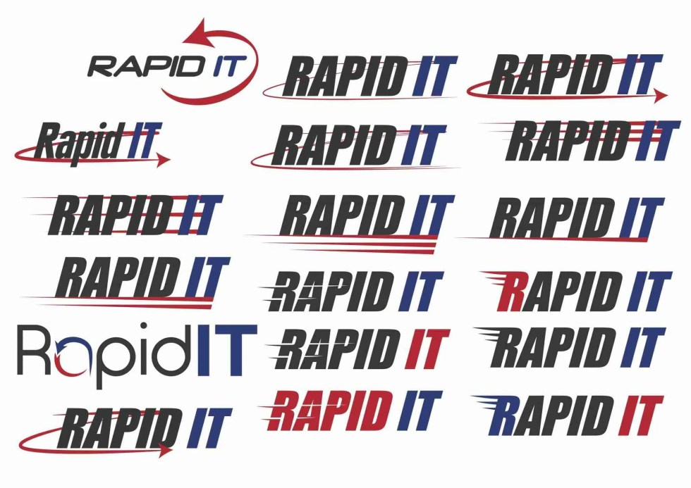 rapid it logo design 3