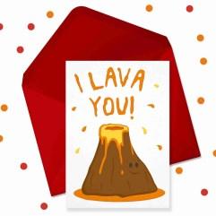 i lava you card