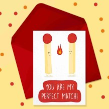 you are my perfect match card