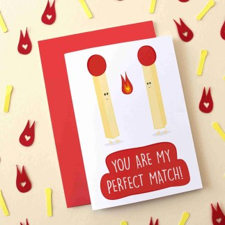 you are my perfect match new card