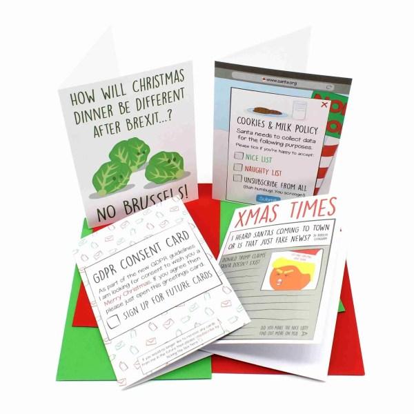 Political Christmas Card Set