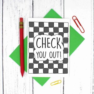 New Job Card, Funny Wedding Card, Check Pun Card, Pass Driving Test, Confetti Card, TP Creation, Congratulations Card, Graduation Card, Checkerboard Card, Pass Exams Card, New Home Card, New Baby Card, Baby Shower Card