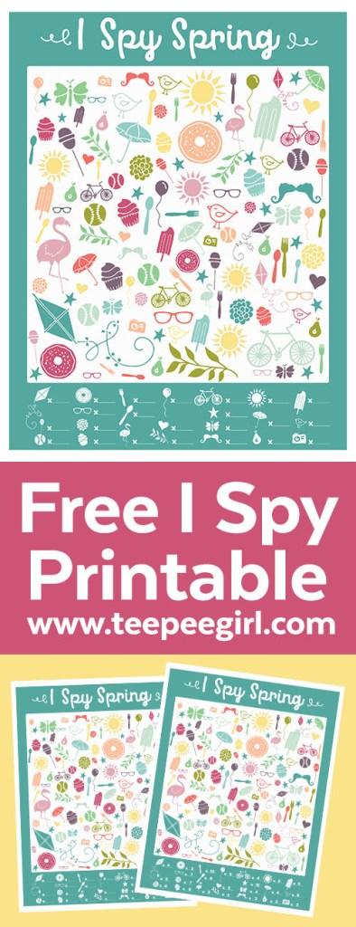 Free I Spy Spring Printable Game