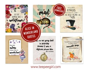 Alice In Wonderland Printables