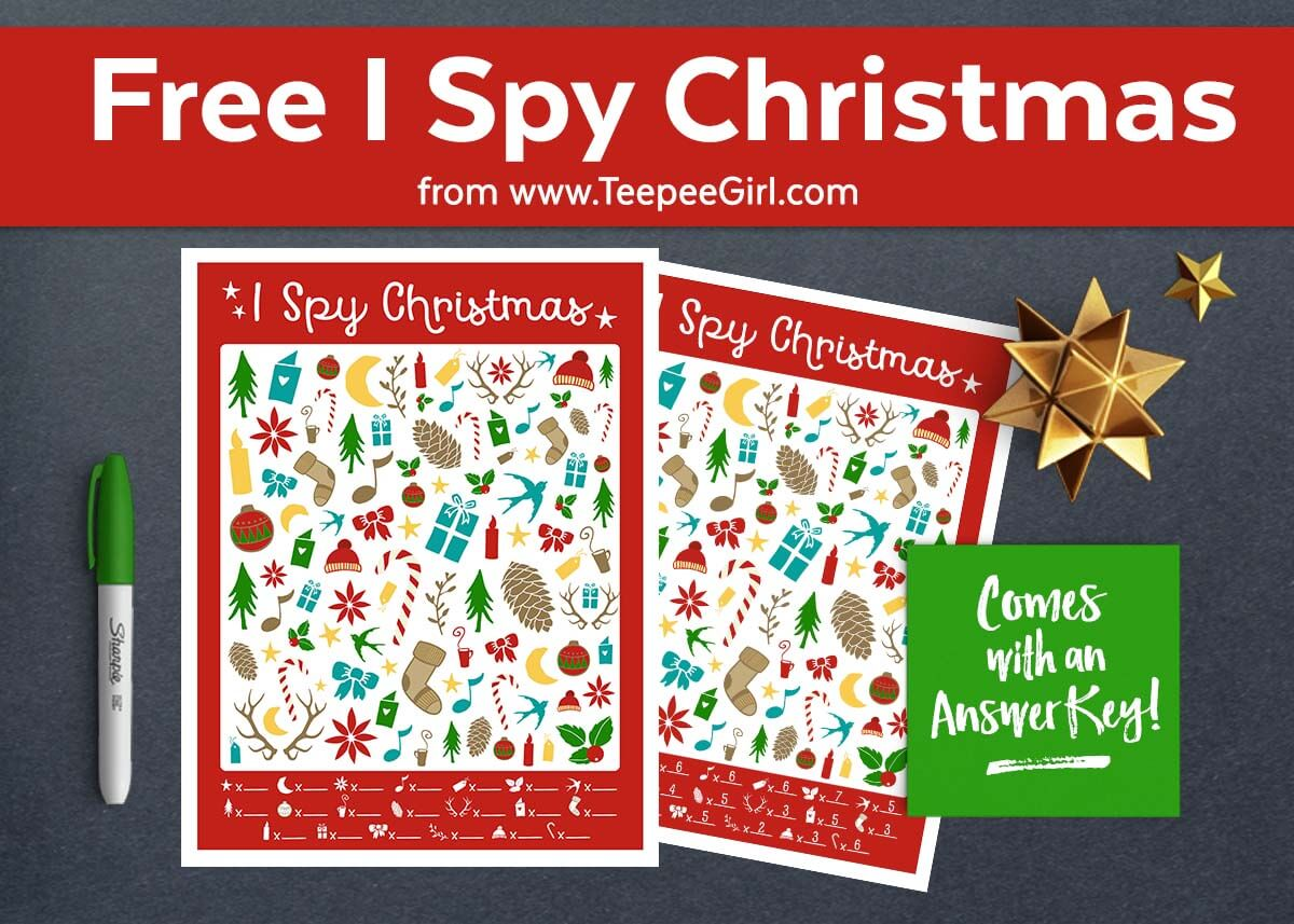 Free I Spy Christmas Printable Game