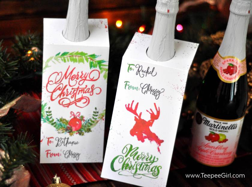 These free bottle tags are so festive and make gift giving simple and easy!! Just print out the tags and stick them on bottles that you want to dress up. Get them today at www.TeepeeGirl.com! These free bottle tags are so festive and make gift giving simple and easy!! Just print out the tags and stick them on bottles that you want to dress up. Get them today at www.TeepeeGirl.com!