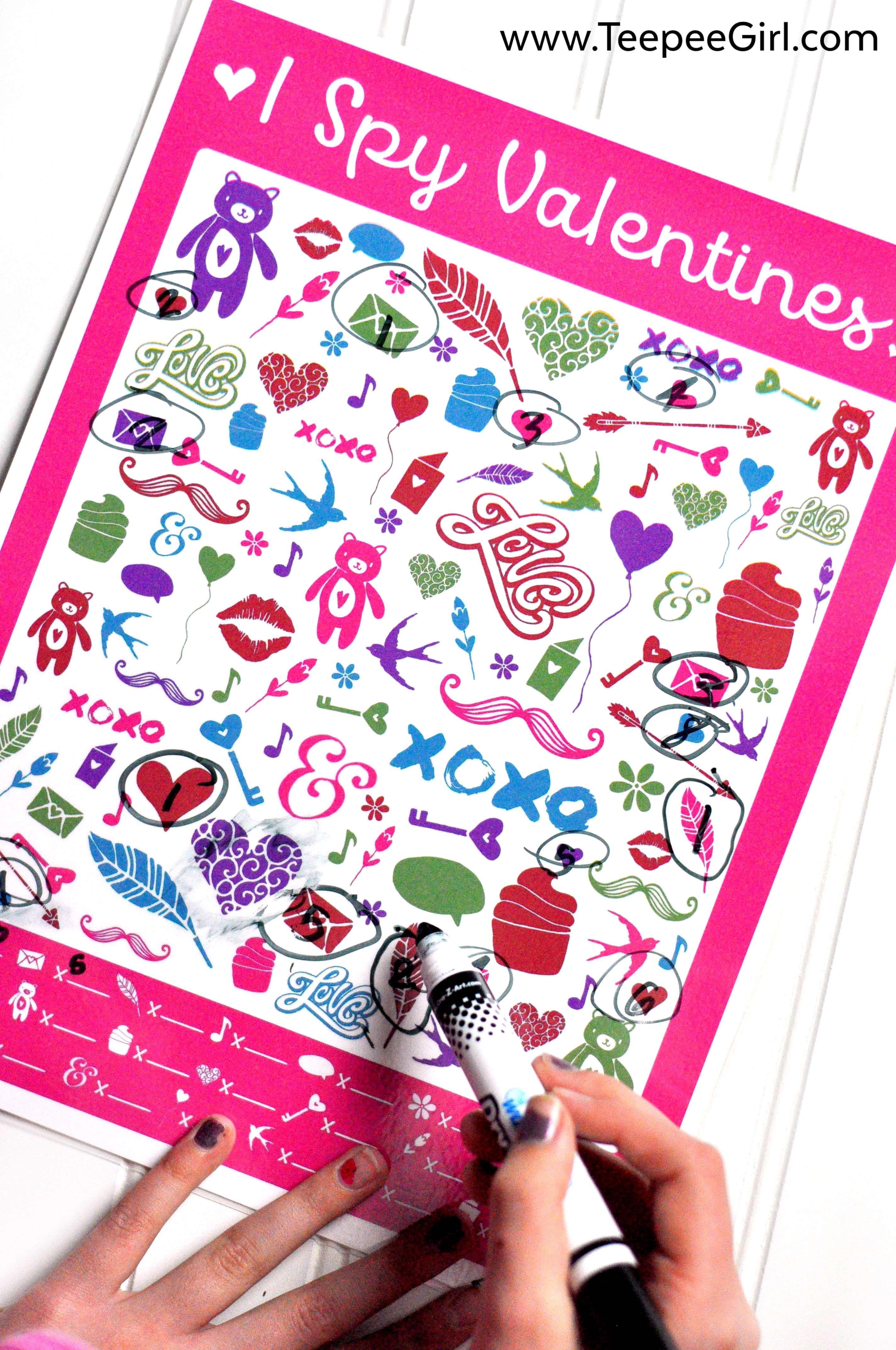 Free I Spy Valentines Printable Game