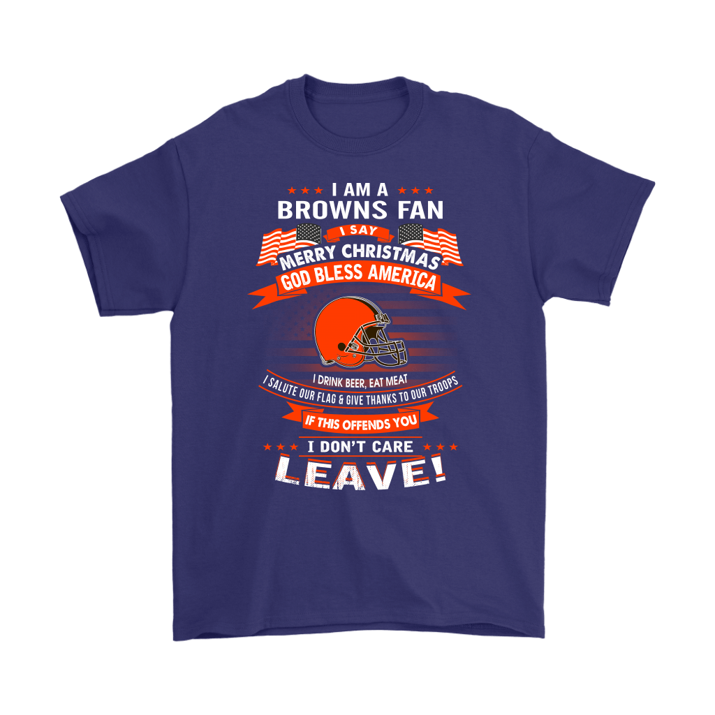 A Cleveland Browns Fan Merry Christmas God Bless America Shirts 4
