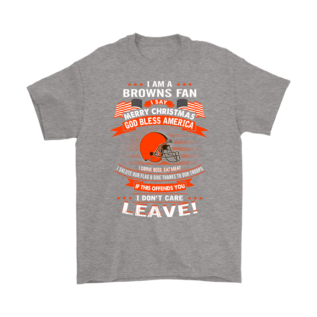 A Cleveland Browns Fan Merry Christmas God Bless America Shirts 6