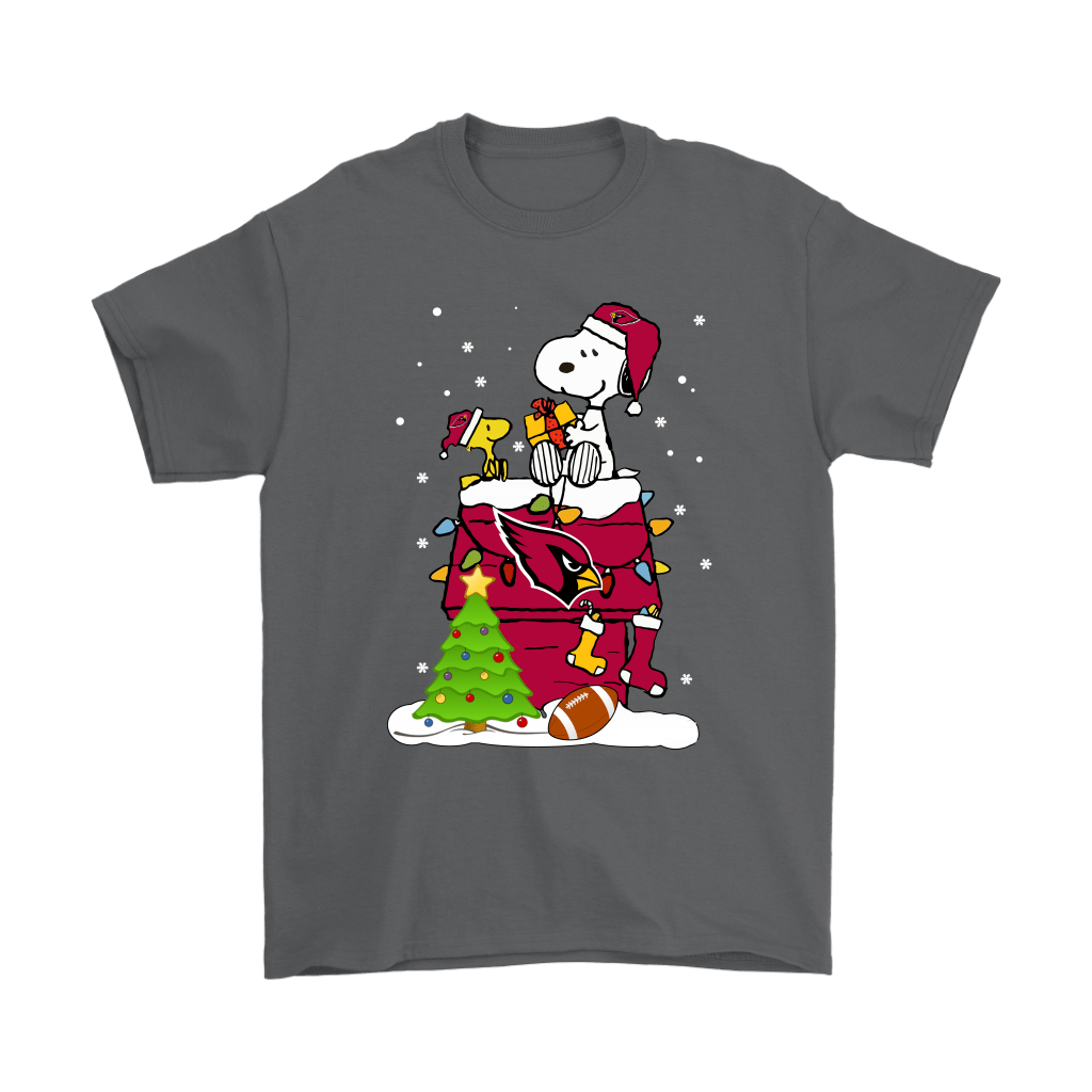 A Happy Christmas With Arizona Cardinals Snoopy Shirts 2