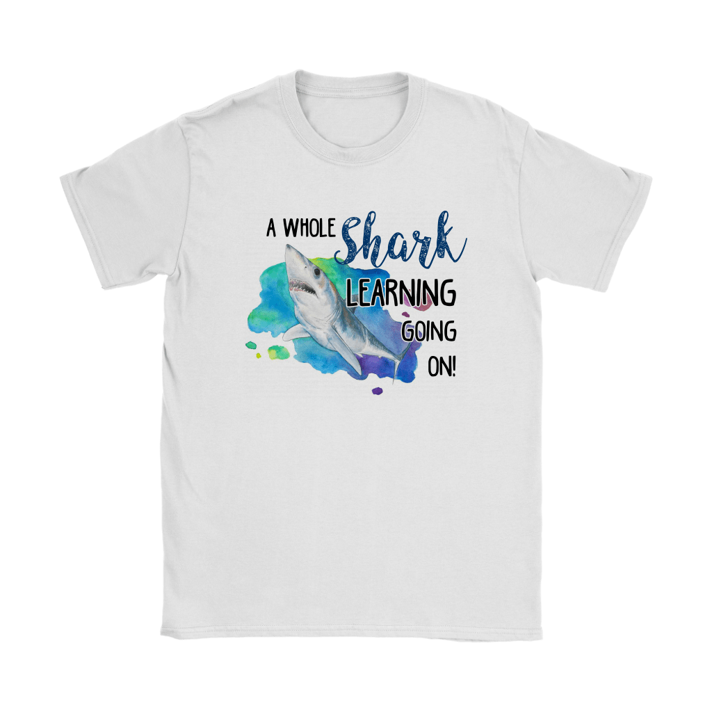 A Whole Shark Learning Going On Shirts 2