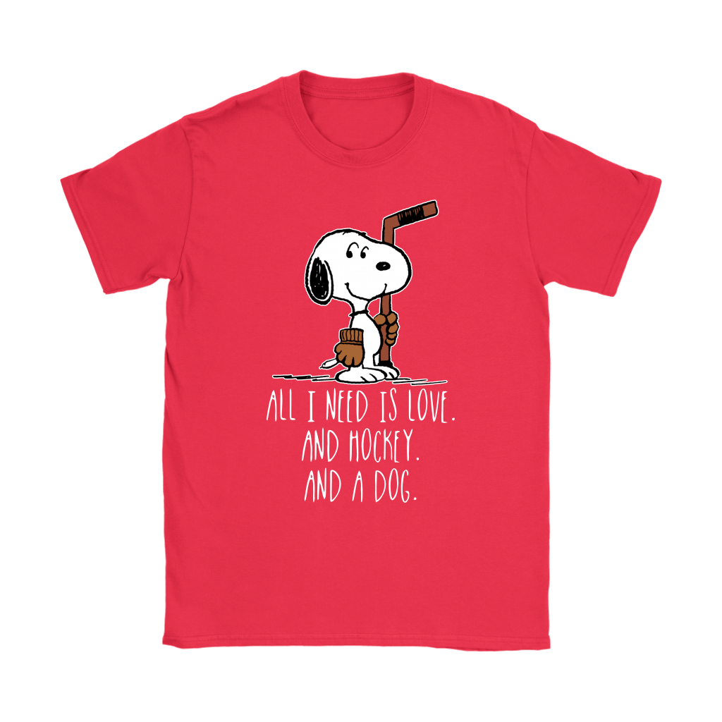 All I Need Is Love And Hockey And A Dog Snoopy Shirts 12