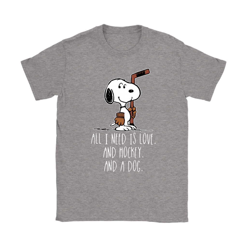 All I Need Is Love And Hockey And A Dog Snoopy Shirts 14