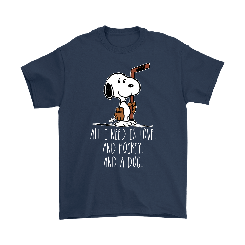 All I Need Is Love And Hockey And A Dog Snoopy Shirts 3