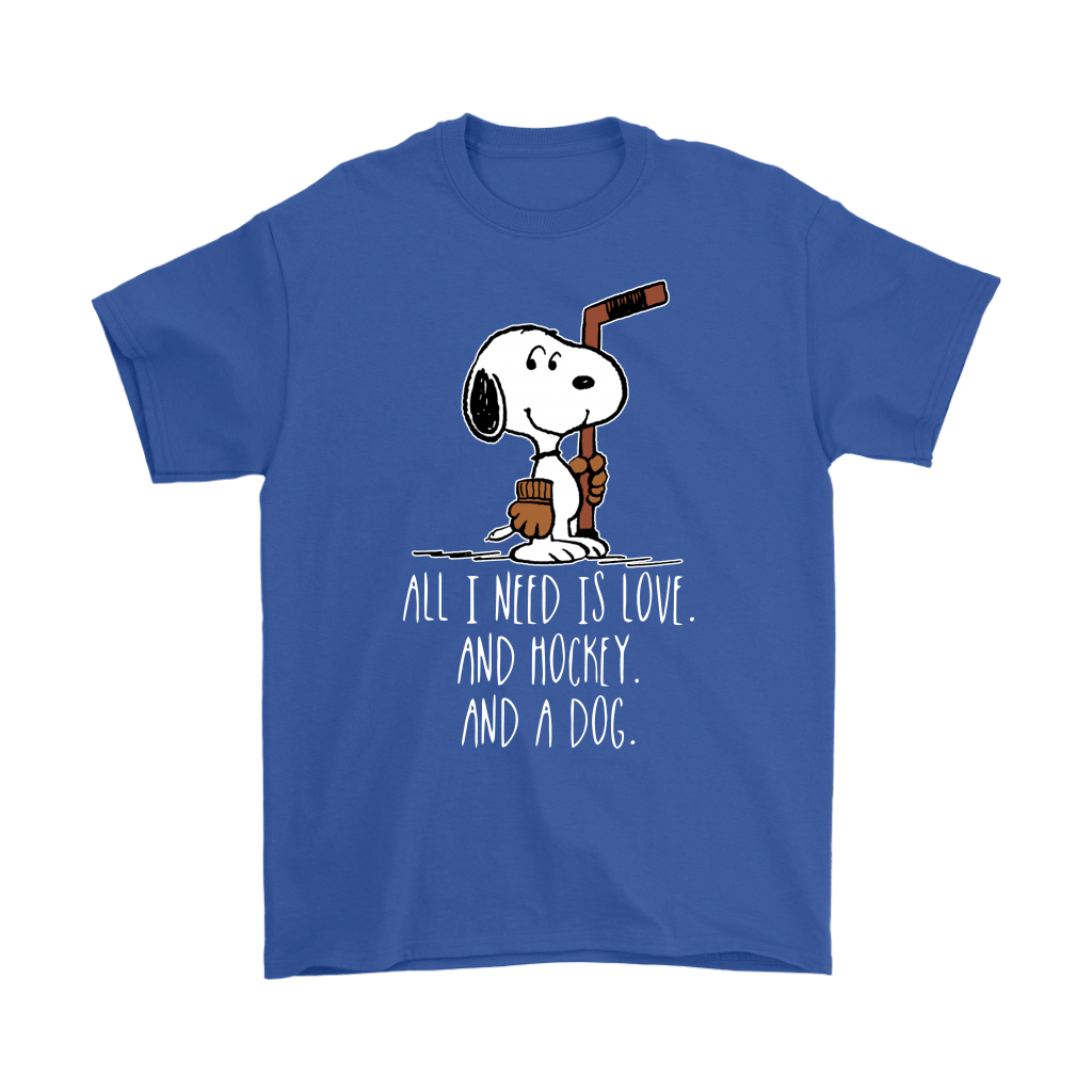 All I Need Is Love And Hockey And A Dog Snoopy Shirts 6