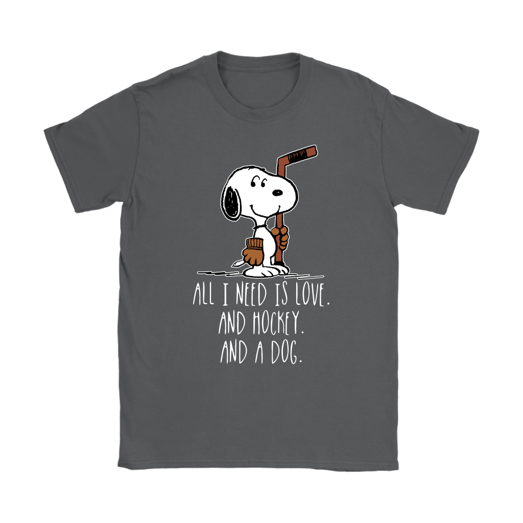 All I Need Is Love And Hockey And A Dog Snoopy Shirts 9
